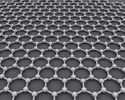 Graphene: A flat layer of carbon atoms bonded in a honeycomb crystal lattice a single atom thick.
