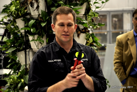 Jay Rogers demonstrates a $300 crimping tool