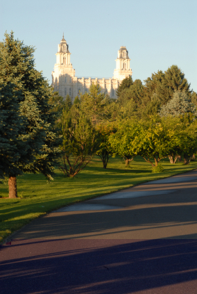 A Building with a Ship for a Roof?  (Manti Temple in Manti, Utah)