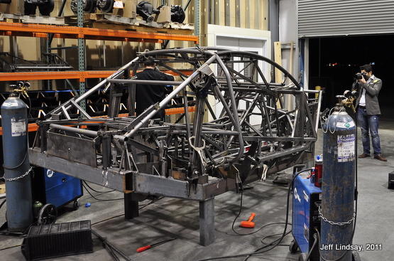 Initial frame, before welding